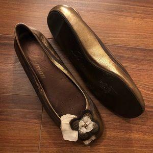 Delman Leather Ballet Flats
